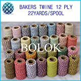 FINCOS Baker Twine 22yard/Spool(600pcs/lot)37 Kinds Color Gift Packing Twine, Divine Twine Wholesale by