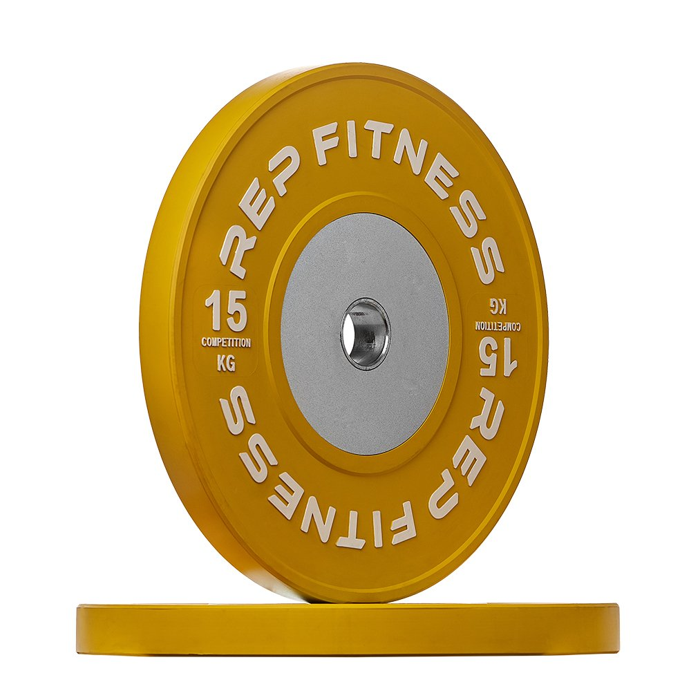 Rep kg Competition Bumper Plates for Olympic Weightlifting, 15kg Pair