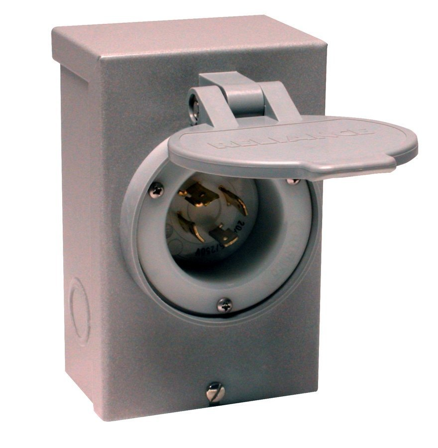 Amazon.com: Reliance Controls Corporation PB20 20-Amp NEMA 3R Power Inlet  Box for Generators Up to 5,000 Running Watts: Garden & Outdoor