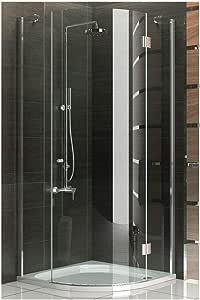 Mampara de cuadrante funshirt cuadro ducha 80 x 200 cm completamente/altura 200 cm/cabina de ducha de cristal de seguridad/puerta easyclea puertas/modelo Rotondo Clear/Alpes Berger: Amazon.es: Bricolaje y herramientas