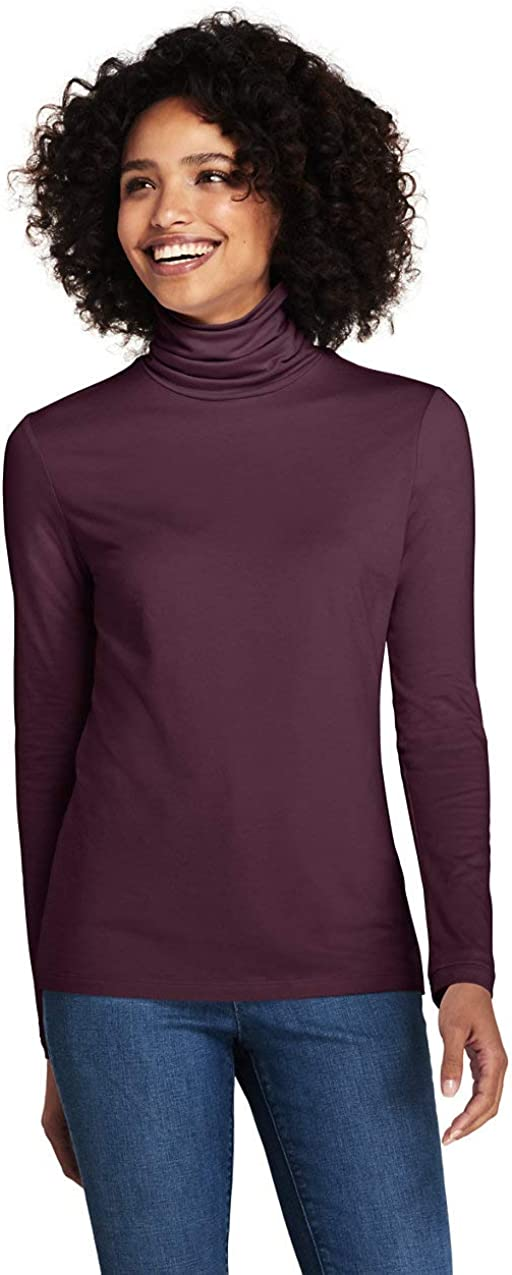 Lands End Womens Tall Lightweight Fitted Turtleneck Layering