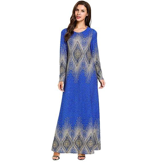 5665541fc3c388 Wolfleague Robe Musulman Femme Abaya Dubai Musulmane Robe Longue ...