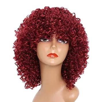 Amazon.com : short curly red hair wig women