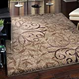 Euphoria Collection Dakota Taupe Olefin Area Rug (5'3 x 7'6) Carolina Weavers