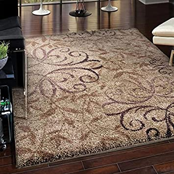 Euphoria Collection Dakota Taupe Olefin Area Rug (5u00273 X 7u00276)