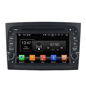 kunfine Android 9.0 Octa Core Coche Reproductor de DVD GPS navegación Multimedia estéreo del Coche para Fiat Doblo 2016 Autoradio Control de Volante ...