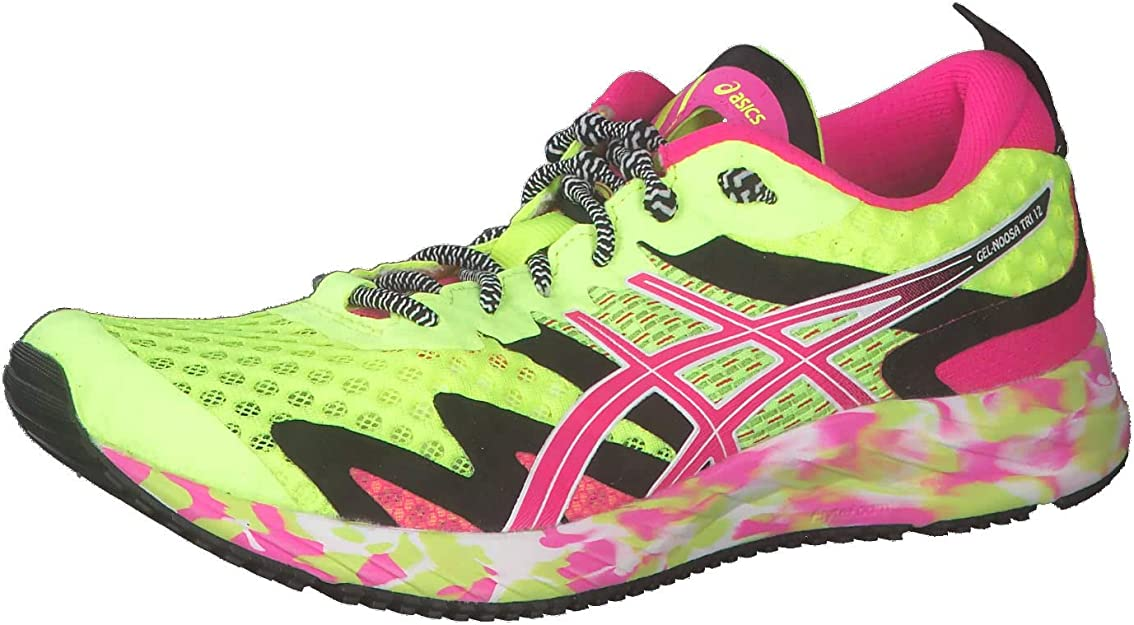 Asics Gel-Noosa Tri 12, Zapatos para Correr para Mujer, Safety Yellow/Pink GLO, 38 EU: Amazon.es: Zapatos y complementos