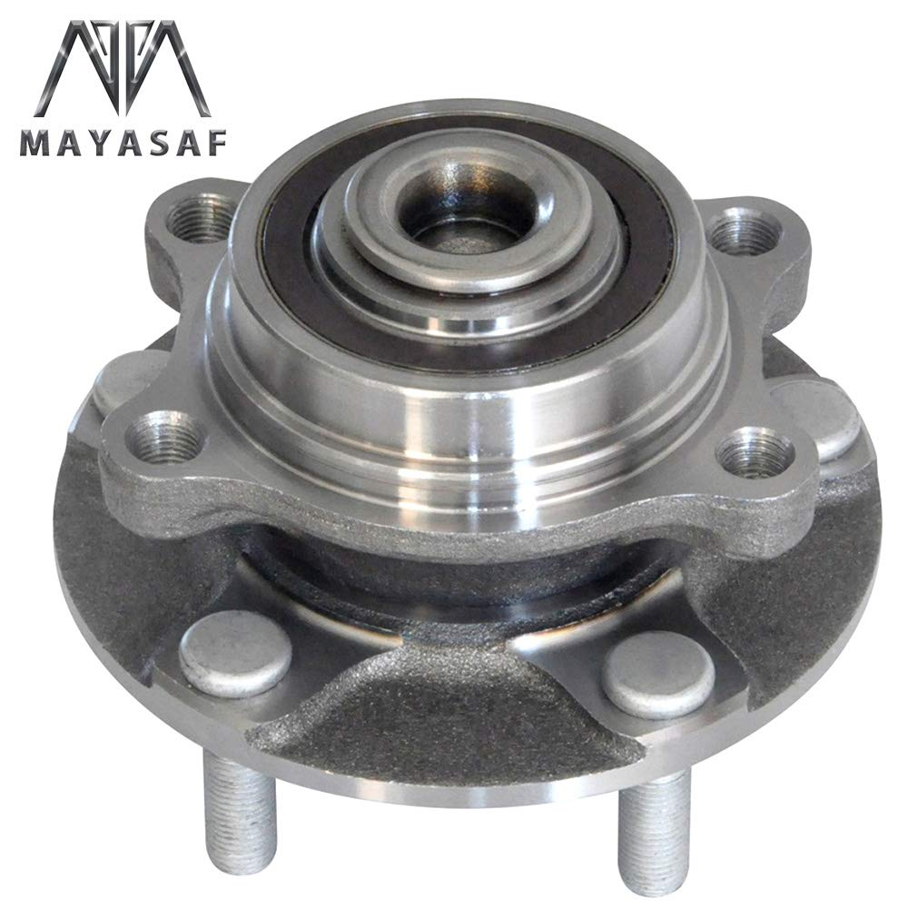 MAYASAF 513268 New Front Wheel Hub Bearing Assembly 5 Lugs w/ABS Fit 03-07 Infiniti G35 RWD, 03-09 Nissan 350Z by MAYASAF