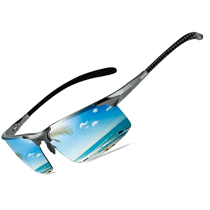 Bircen Men's Polarized Carbon Fiber Sunglasses | Best Adjustability