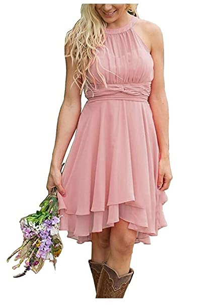 Aokaixin Plus Size Short Country Bridesmaid Dresses Western Wedding ...
