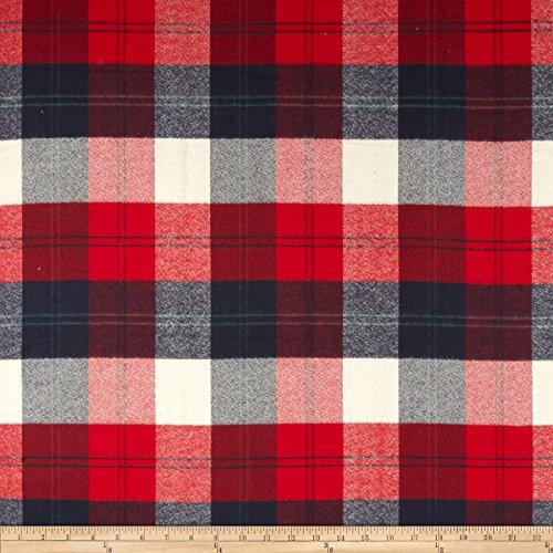 Robert Kaufman Mammoth Flannel Plaid Americana Fabric by The Yard