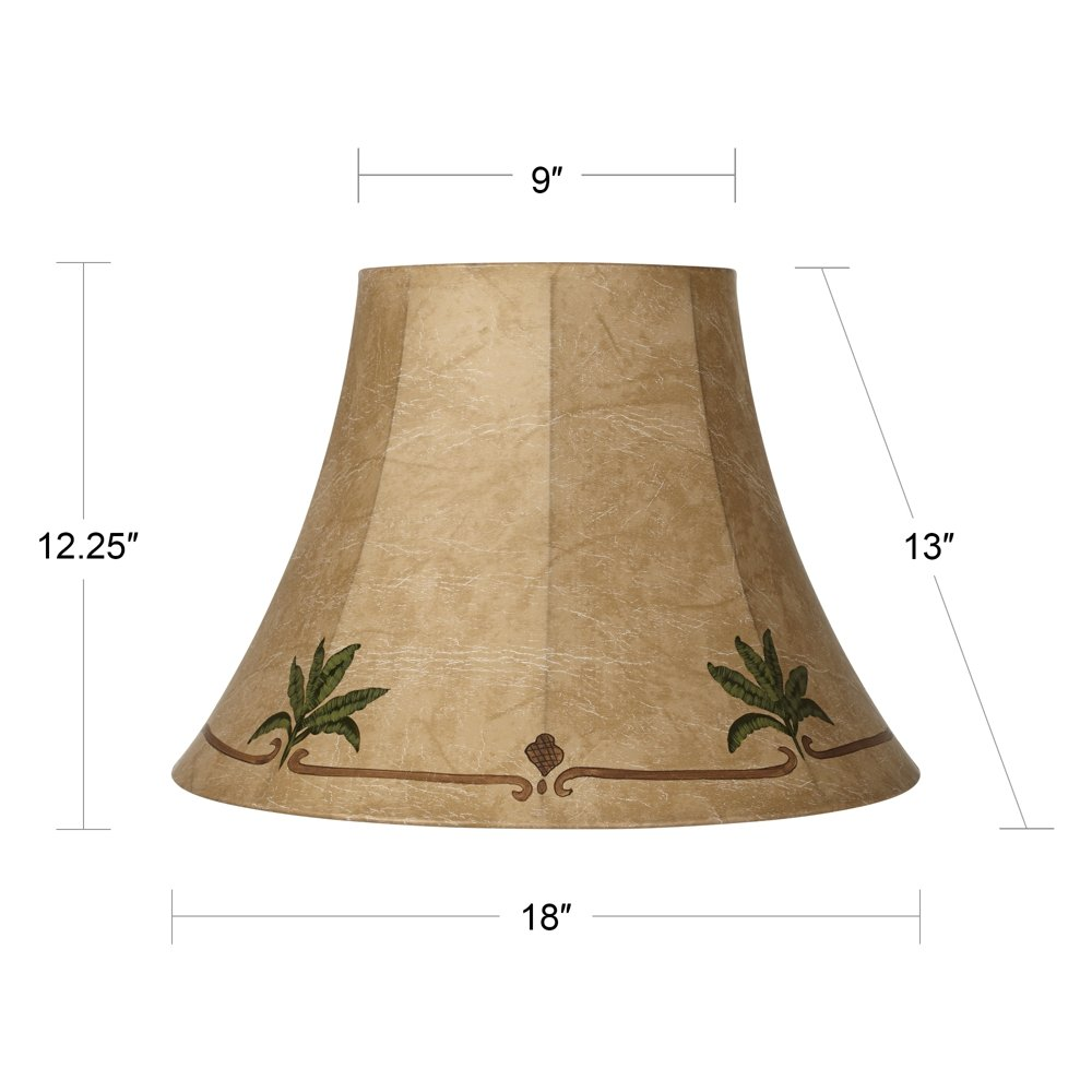 Palm Leaf Faux Leather Lamp Shade 9x18x13 (Spider) by Springcrest (Image #5)