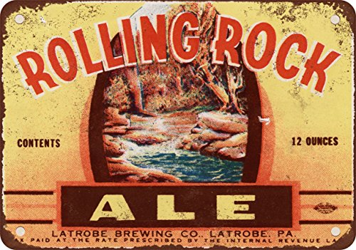 7 x 10 METAL SIGN - 1934 Rolling Rock Ale - Vintage Look Reproduction
