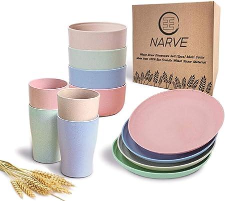 NARVE Microwave Safe Dinnerware Sets