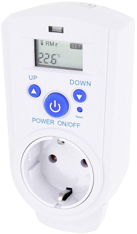 Thermostat de fiche intermé diaire avec thermostat 230 V –  Prises universel 3600 W HAVA