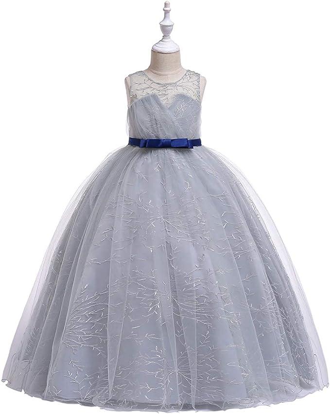 LADYLUCK Vestido De Fiesta Princesa Niña Falda Larga Vestido ...