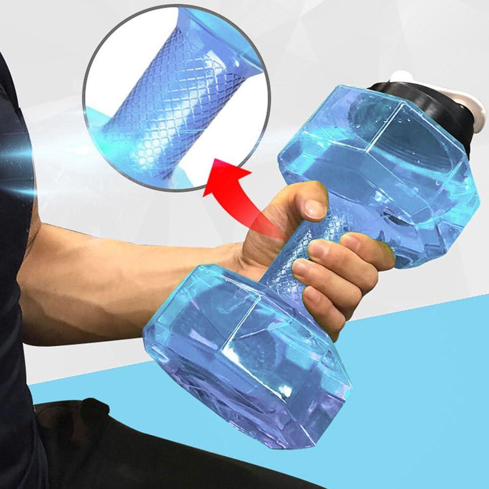 Woopower Botella de Agua Deportiva DE 2,2 litros con asa y Bebida Resistente a Las Fugas Senderismo Gimnasio para Culturismo para Fitness Extra Grande Entrenamiento Deportes al Aire Libre