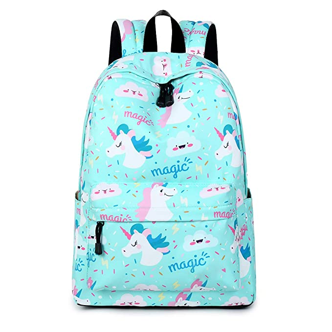 Wiliboat Lightweight School Backpack for Women College Student Cute Bookbag Shoulder Bag Daypack (Unicorn)