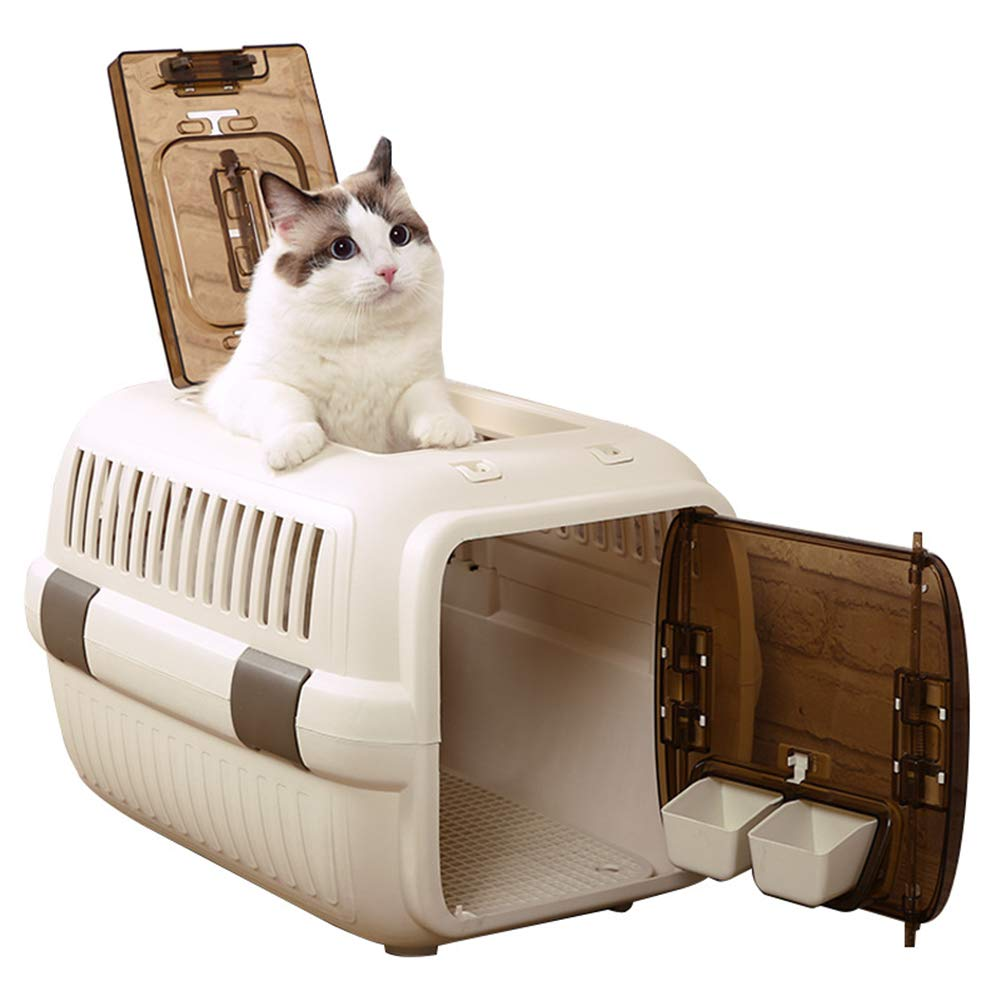 L Air Box Cat Out Of The Box Portable Portable Cage Air Transport Consignment Box Pet Suitcase Cat Litter,L