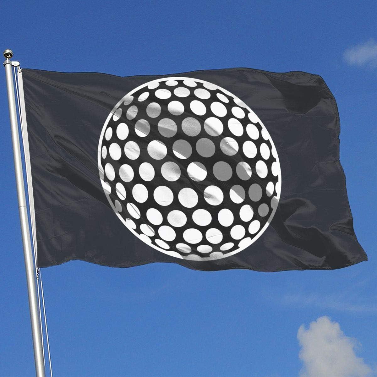 Hao-shop Banderas Bandera de demostración al Aire Libre/doméstica Pelota de Golf Blanca mínima Banderas translúcidas de una Capa (3 x 5 pies)