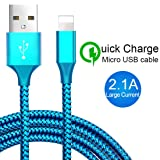 HKYUSHINE Phone Charger Cable 4PACK [3FT 6FT 6FT