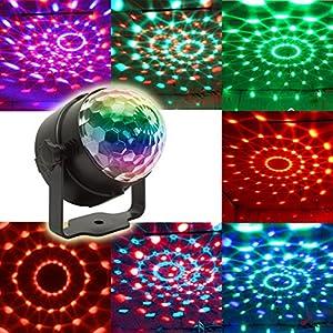 61FgMLTyRKL. SS300  - KOOT-Discokugel-Disco-Licht-Party-Licht-LED-Bhne-Lichter-DJ-licht-Ton-Aktiviert-und-Fernbedienung-Beste-fr-Kinder-Geburtstag-Parteien-Karaoke2019-Aktualisierung