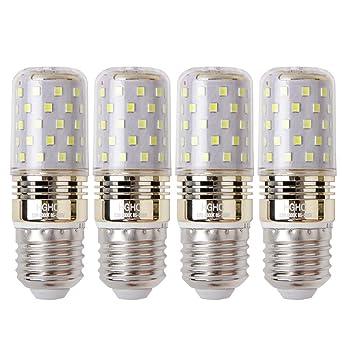 LED maíz bombilla 12W E27 6000K blanco frío LED Candelabros bombillas, 100W bombilla incandescente equivalente