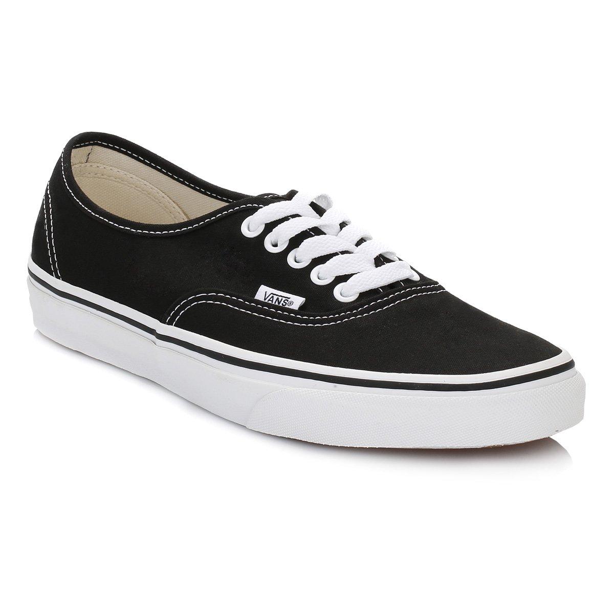 SV – Vans Authentic Plimsolls – Zapatillas deportivas LOW TOP – Zapatillas deportivas, color blanco y negro 36 EU|negro y blanco