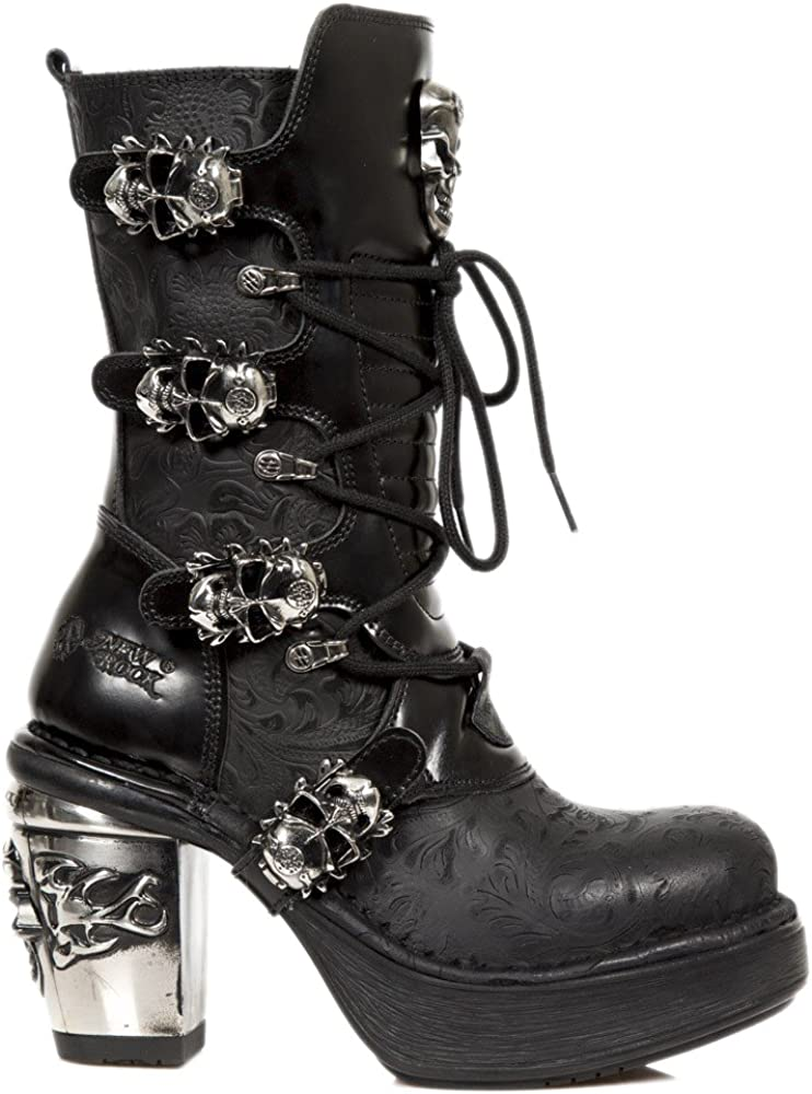 Botas altas Punk para Hombre 2019, suela gruesa de alta calidad, zapatos de cuero Pu con remaches, botas de moda de vaquero para motocicleta, botas
