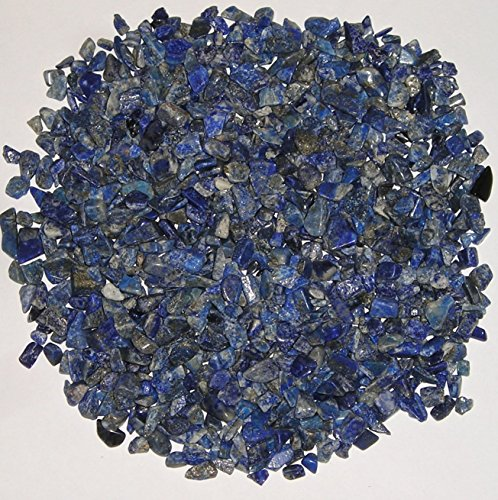 World of Gaia Rocks: Lapis Lazuli Chips Semi-tumbled Stones 1/2 Lb Bulk Pk 5-15mm