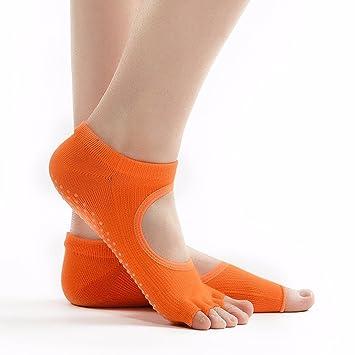 Liuxc Calcetines de yoga Señoras Calcetines de Cinco Dedos, Dedos Desnudos, Punta de los