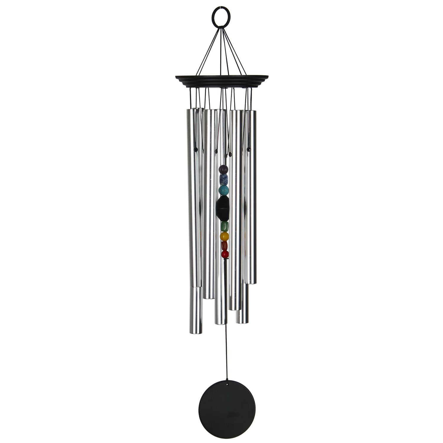 Woodstock Chimes Chakra Windchime with 7 Stones, 24.5-Inch CC7L