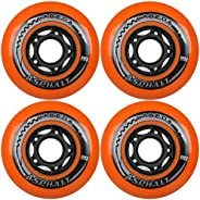 Labeda Inline Skate Wheel 80mm 86a Set of Four