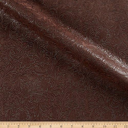 KasLen Textiles KasLen Faux Leather Western Trail Chocolate,