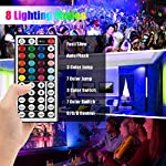 LED Strip Light, 16.4 ft Waterproof Music RGB 5050 Led Rope Lights Color Changing LED Light Strip Kit with Remote… 11