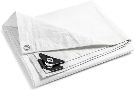 STI Telo PVC Ultra 260gr occhiellato Copertura Impermeabile Esterni Bianco 2X3mt