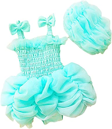 Baby Toddler Girls Two Pieces Bikini Set Girls Tulle Tutu Swimsuit Dress Princess Ruffle Swan Bathing Suit with Hat