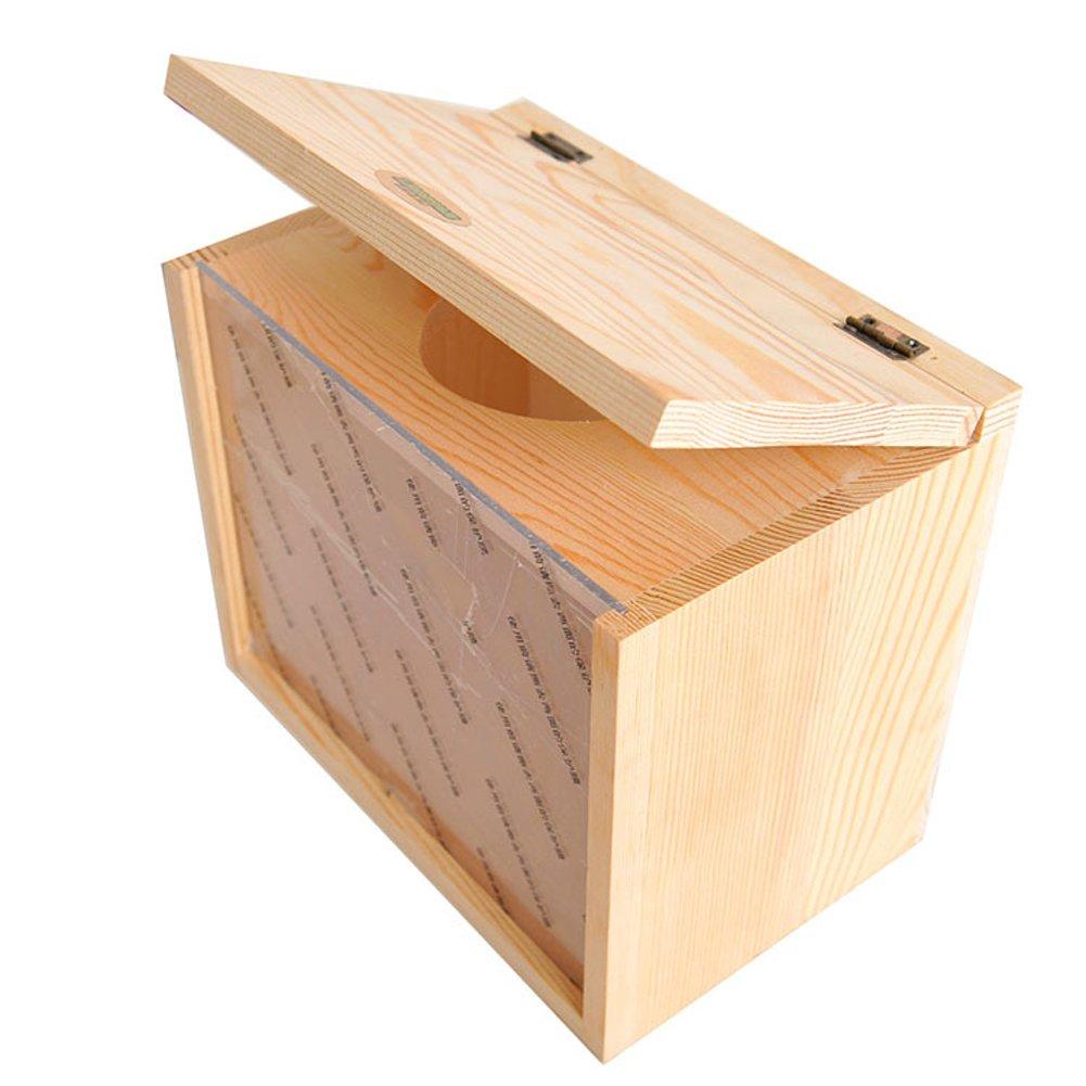 Insun Natural Wood Bathtub Pmma Board for Totoro Chinchilla Pets Bath 5.9'' 7.9'' 9.1