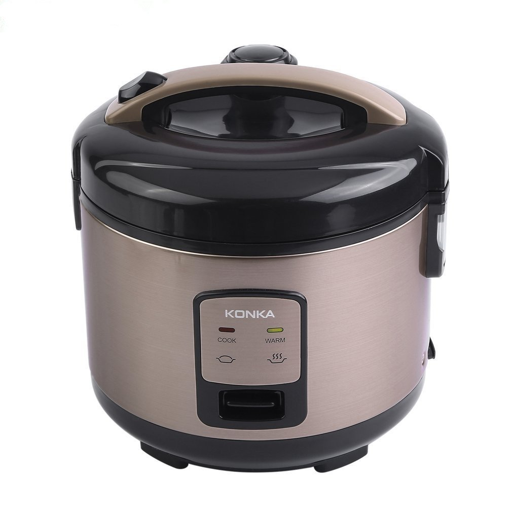 Homgrace Rice Cooker, Electric Rice Cooker KONKA Mini Rice Cooker 120V 50Hz 500W, Stainless Steel Rice Cooker 3L