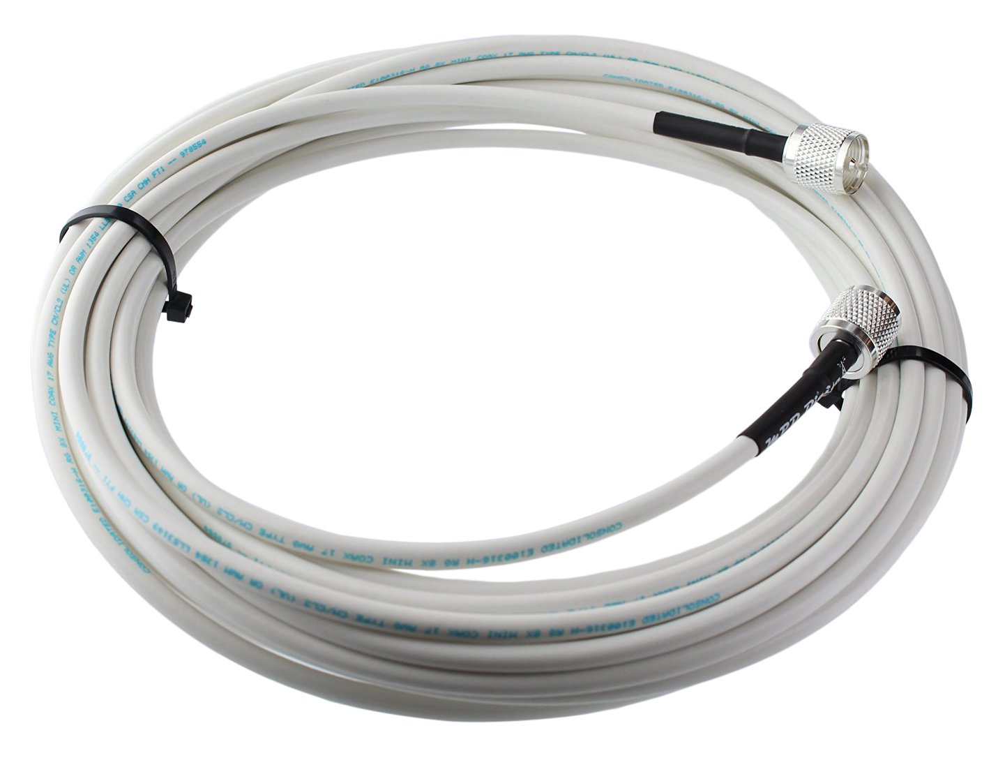 MPD Digital RG8x-W-PL259-65ft VHF Antenna Cable RF CB & AIS