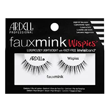 8666d677c11 Amazon.com : Ardell Faux Mink Strip Lashes Wispies : Beauty