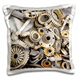 3dRose Steampunk Rusty Parts - Pillow Case, 16 by 16-inch (pc_45007_1)