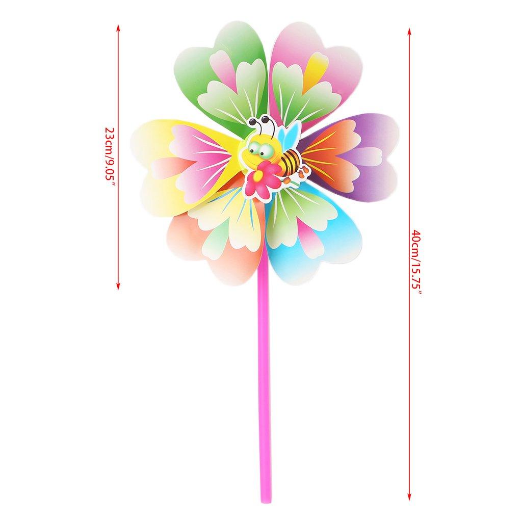 2/parti//sacchetto colorate arcobaleno mulino a vento giocattoli per bambini Girandola a Vento da giardino party Outdoor Decor New