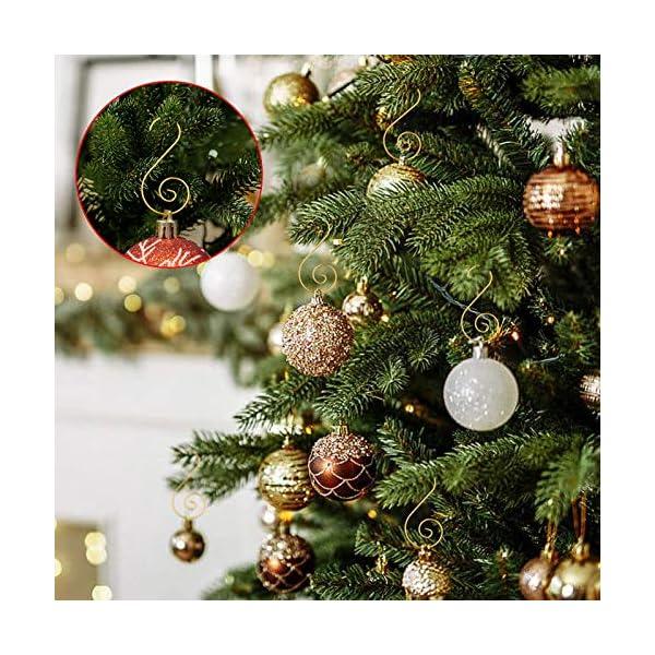 MELLIEX 120 Pezzi Natale Ornamento Ganci in Metallico S Ganci Appendini con Ornamento a Spirale per Ornamento dell'Albero di Natale 3 spesavip