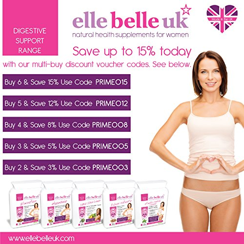Ultimate Candida Cleanse - Yeast & Candida Support - 30 Capsules - Elle Belle UK - Natural Herbal Health Food Supplement Formulated to Help Support Healthy Happy Digestion & Balanced Microflora. by Elle Belle UK by Elle Belle UK (Image #2)