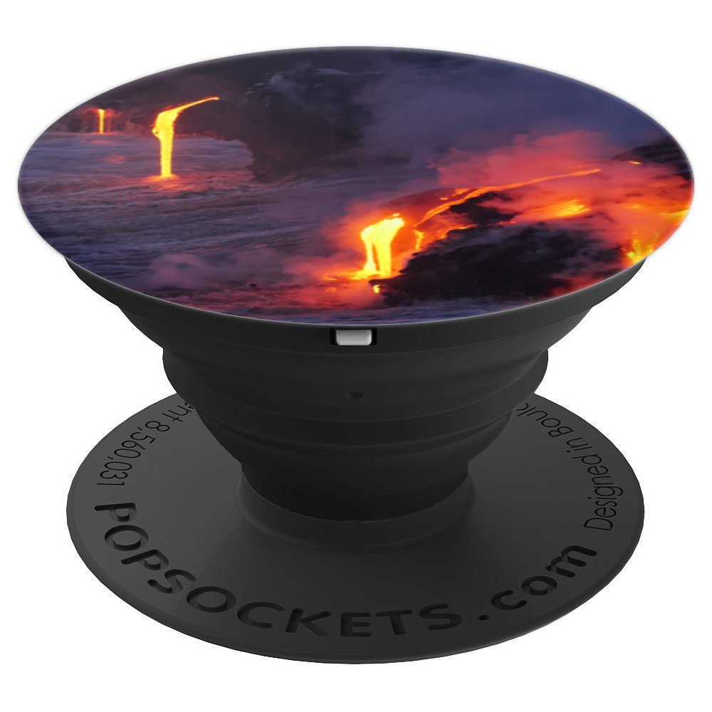 Lava Waterfalls Cute Tropical Vacation Travel Lover Gift - PopSockets Grip and Stand for Phones and Tablets