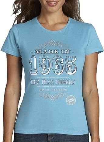 latostadora - Camiseta Made In 1965 para Mujer: educamisetas: Amazon.es: Ropa y accesorios
