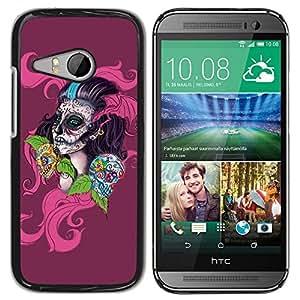 King Case - FOR HTC ONE MINI 2 / M8 MINI - Skull Devil Pattern Sugar Skull Skulls - Caja protectora de pl??stico duro Dise?¡Àado