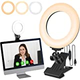 Video Conference Lighting Ring Light for Laptop Computer Monitor Clip On, with Clamp Mount for Zoom Call/Zoom Lighting…