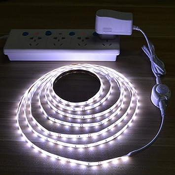 Biuday Gabinete del Dormitorio Luz Nocturna Sensor de Movimiento de Tira de luz infrarroja Tiras LED